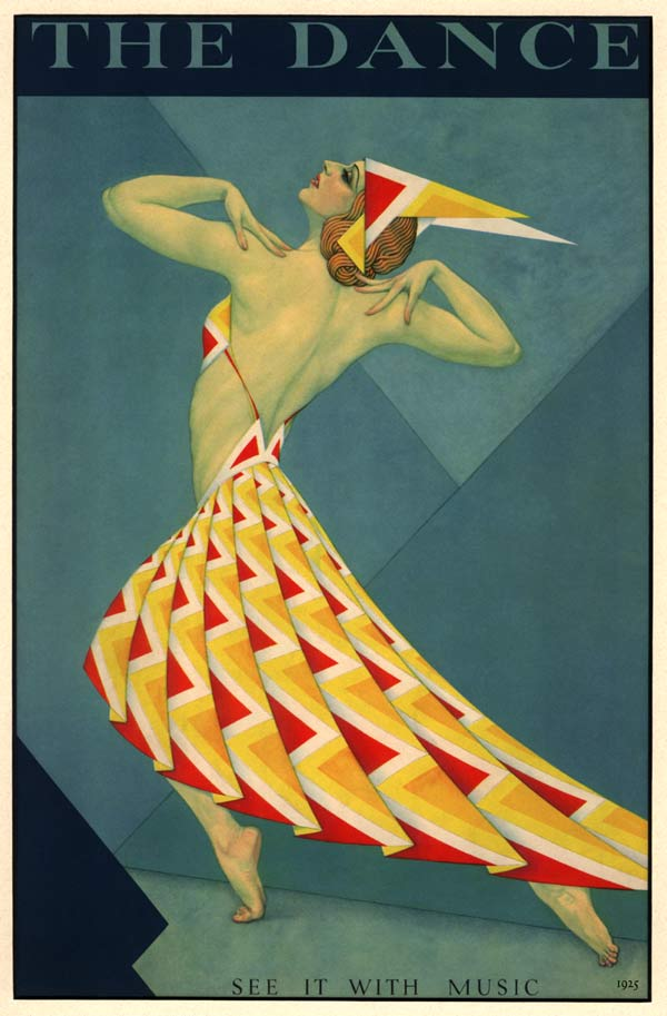 1925 music fashion dancer theatre stage art deco poster for Art deco origin