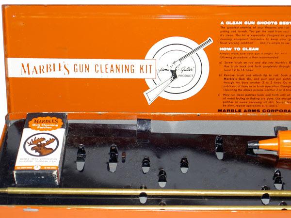 Vintage Tin Marbles Gun Cleaning Kit Pistol Shotgun Box Ebay